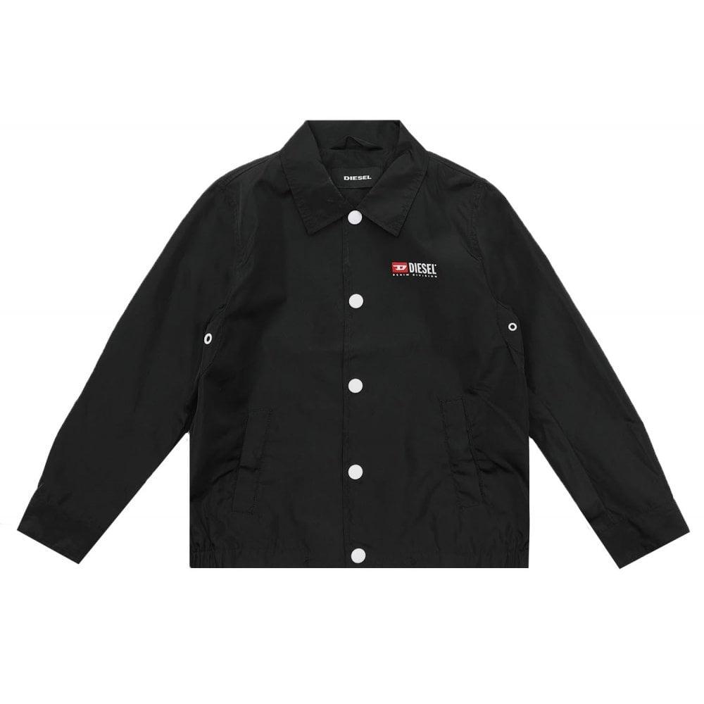 Diesel Jromanp Jacket Colour: BLACK, Size: 16 YEARS