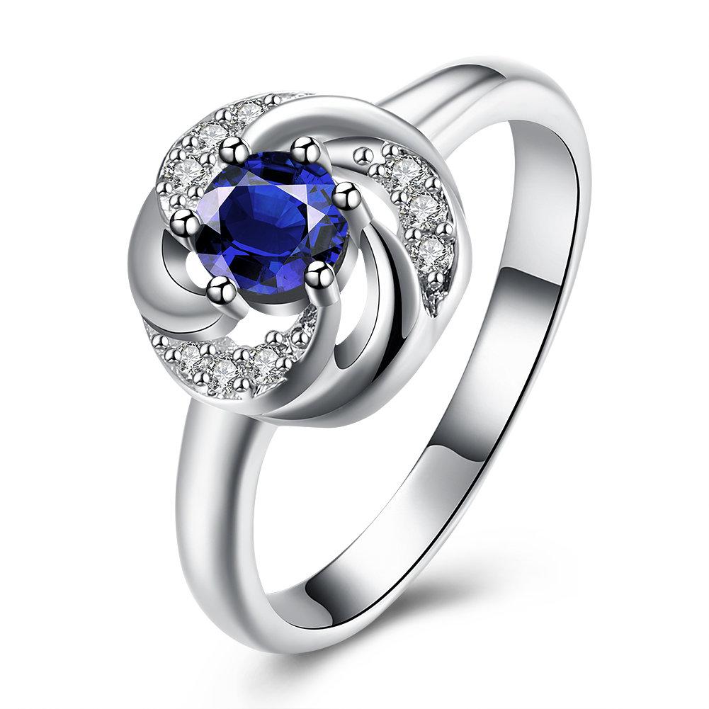 YUEYIN Sweet Ring Flower Zircon Women Ring