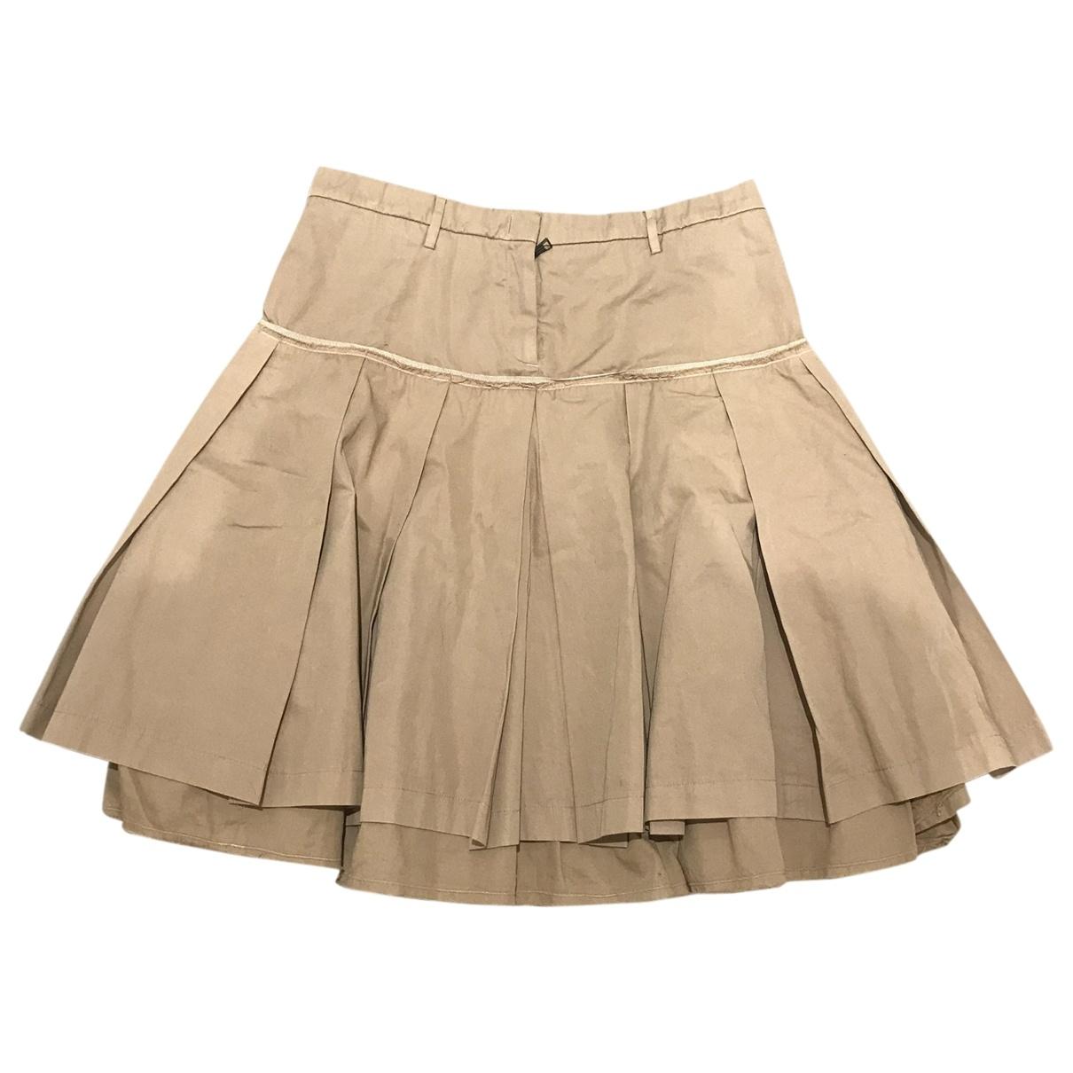 Neil Barrett - Jupe   pour femme en coton - beige
