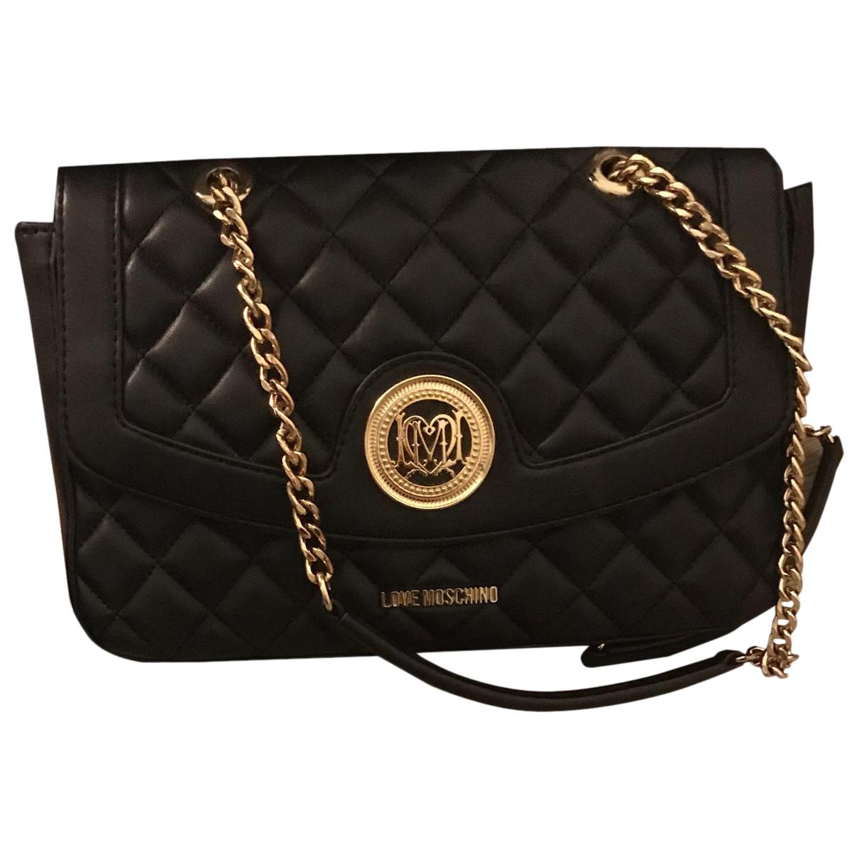 Moschino Love N Black Leather handbag for Women N