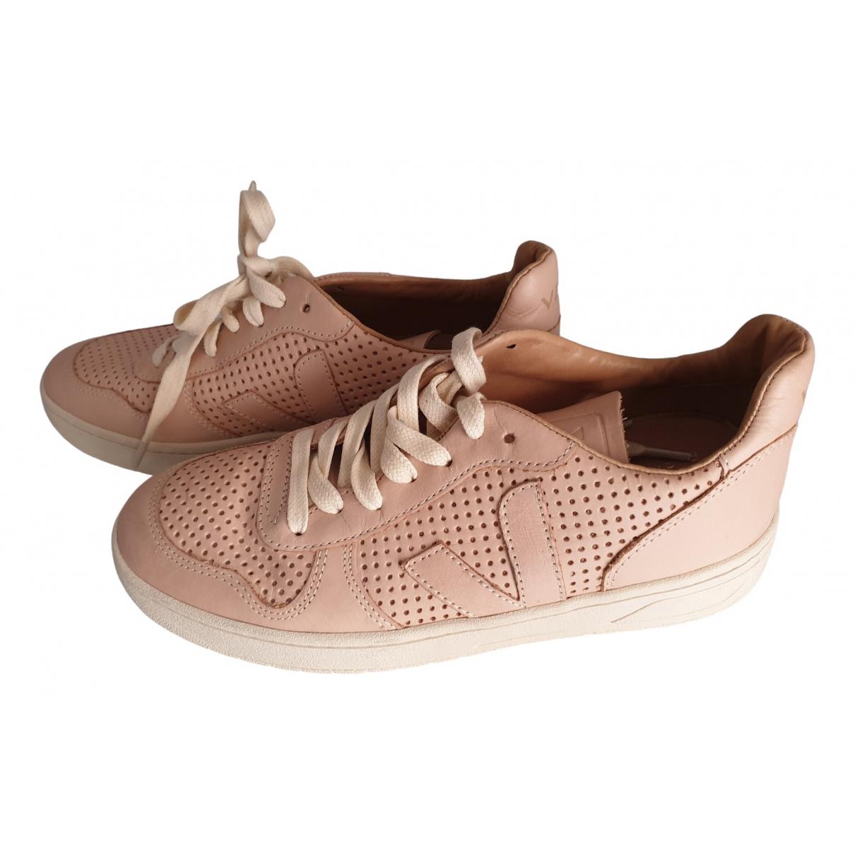 Veja \N Sneakers in  Rosa Leder