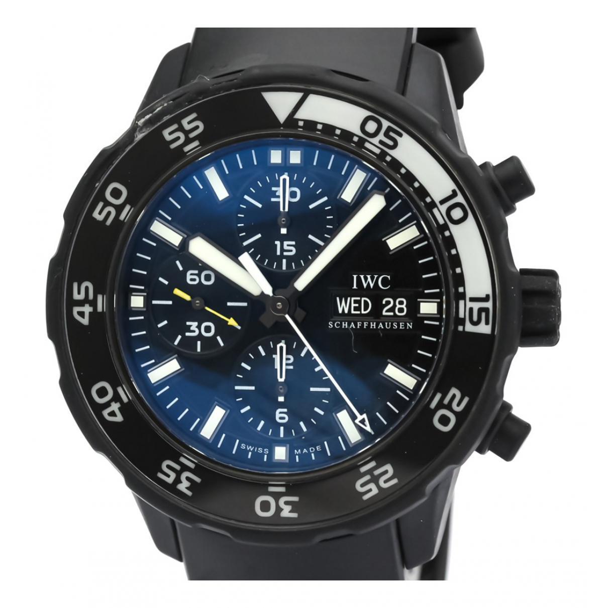 Iwc - Montre Aquatimer pour homme en acier - noir