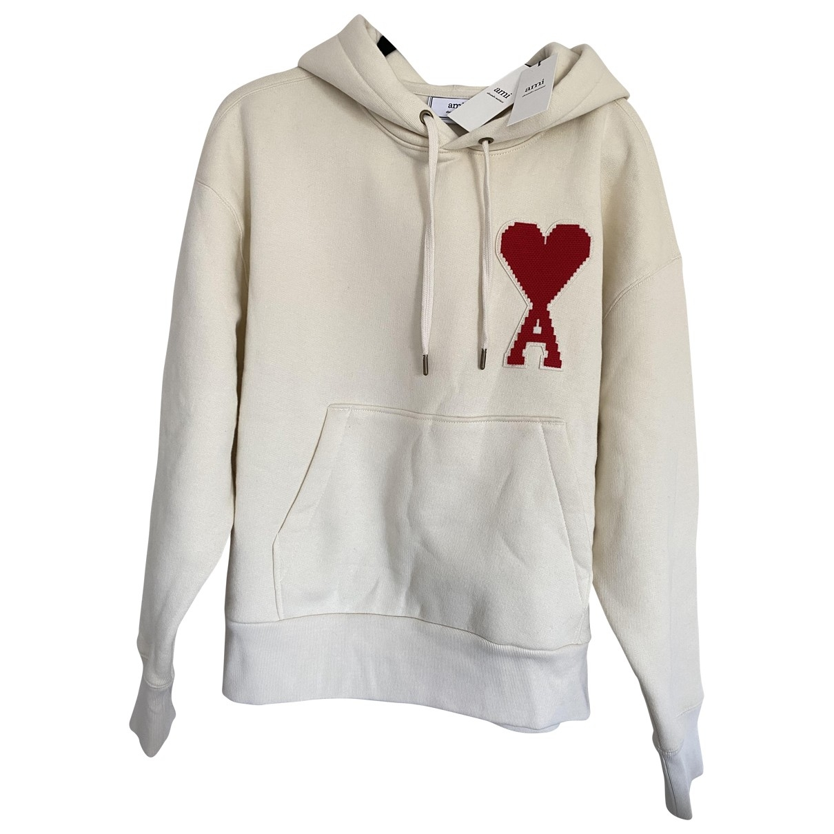 Ami \N Pullover.Westen.Sweatshirts  in  Ecru Baumwolle