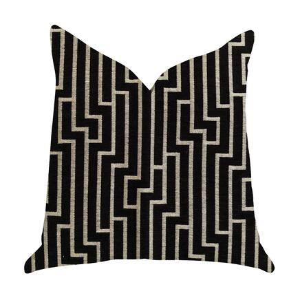 Zinc Collection PBRA1371-1225-DP Double sided  12 x 25 Plutus Posh Lady Black and Beige Tones Luxury Throw
