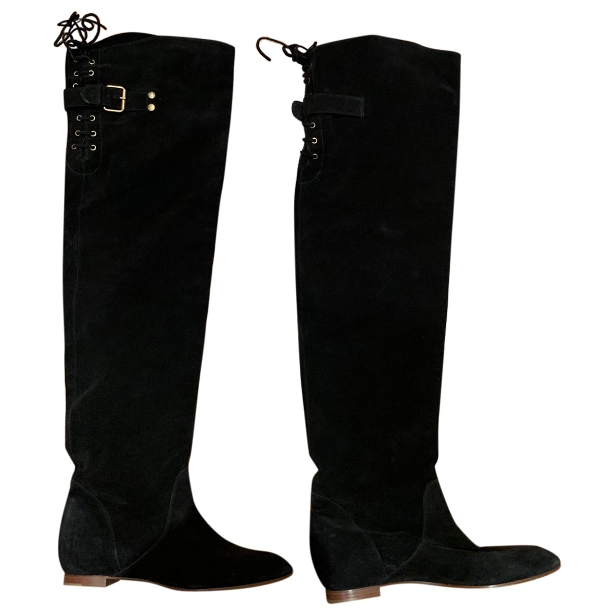Chloé \N Black Suede Boots for Women 38 EU