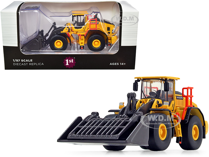Volvo L180H Refuse Wheel Loader 1/87 (HO) Diecast Model by First Gear