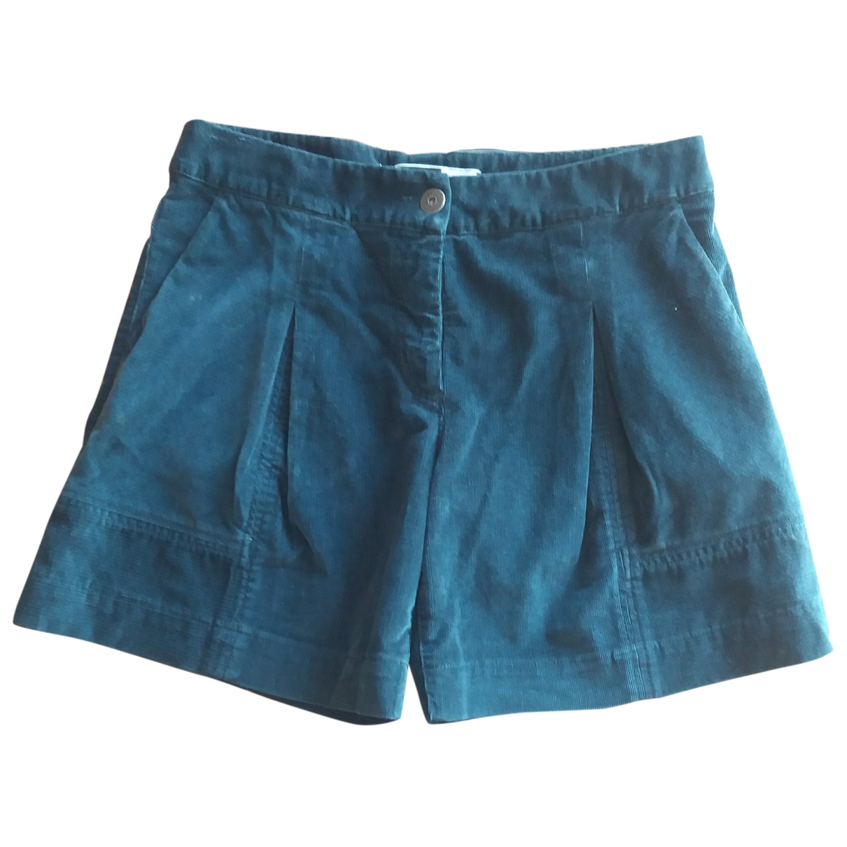 Max & Co \N Blue Cotton Shorts for Women 42 IT