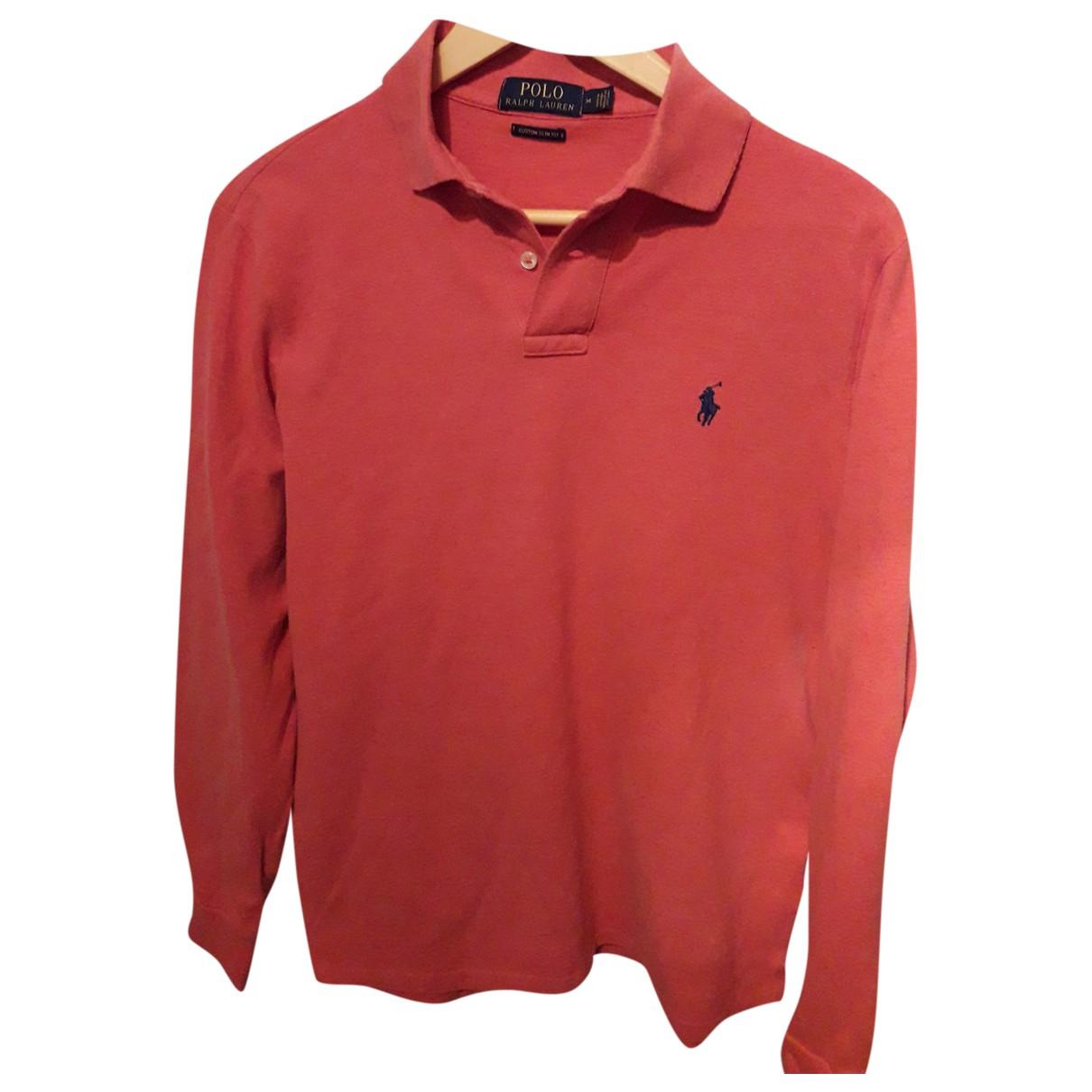Polo Ralph Lauren - Polos Polo cintre manches longues pour homme en coton - rouge