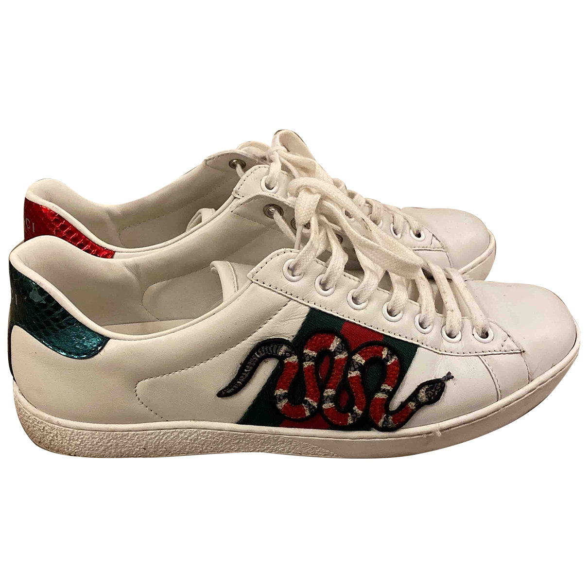 Gucci Ace White Leather Trainers for Men 5.5 UK