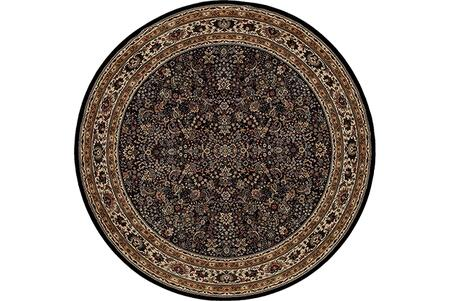 A213K8240240ST 8' Round Rug with Oriental Pattern and PolypropyleneFiber