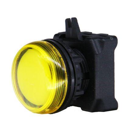 RS PRO Yellow Pilot Light Head, 22.5mm Cutout