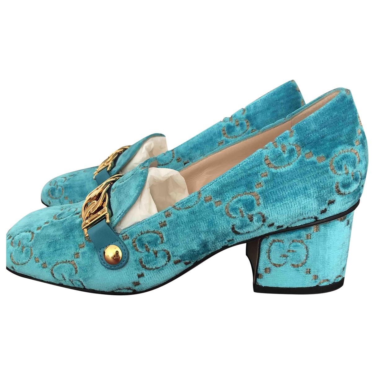 Gucci \N Blue Velvet Flats for Women 36 EU