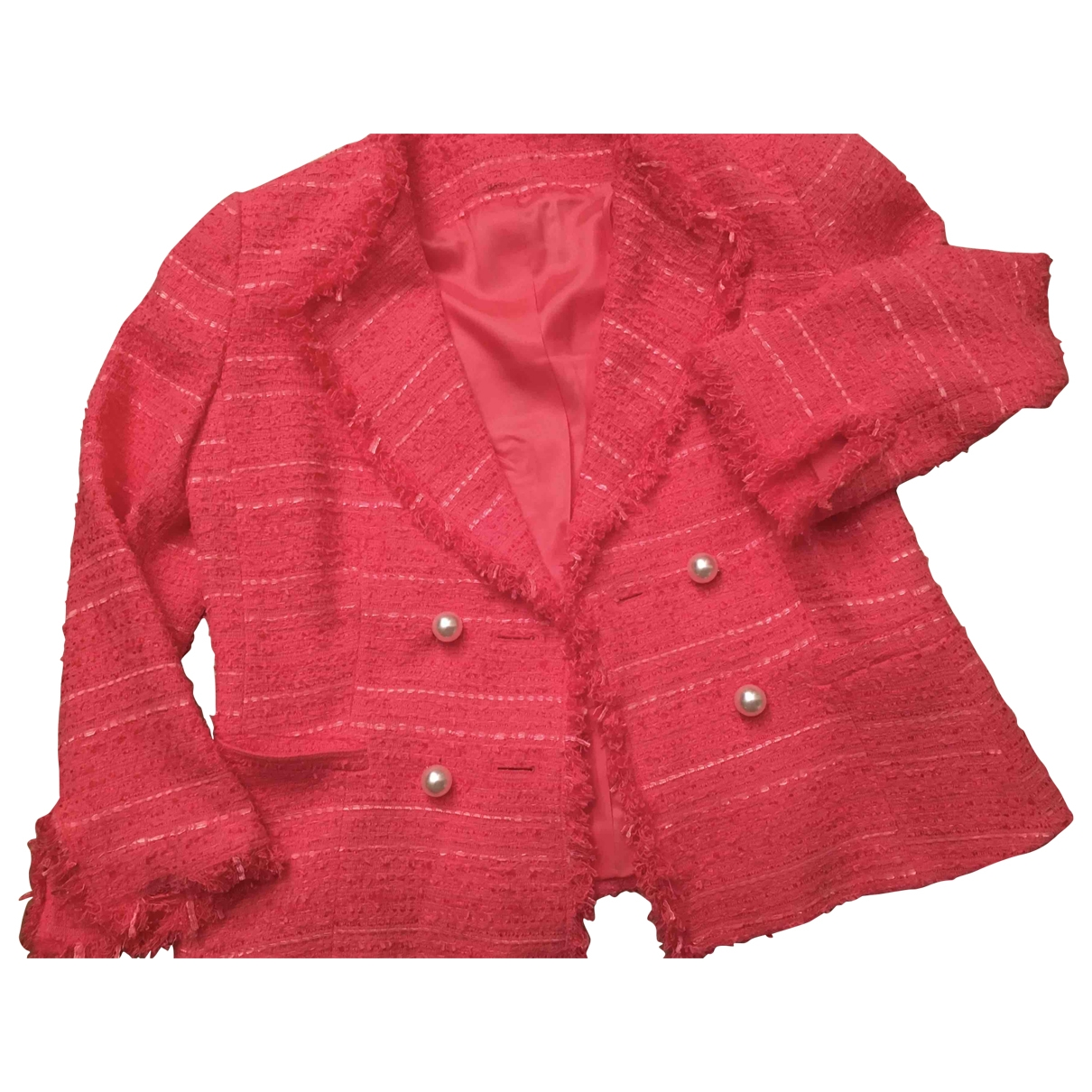Non Signe / Unsigned \N Jacke in  Rosa Baumwolle