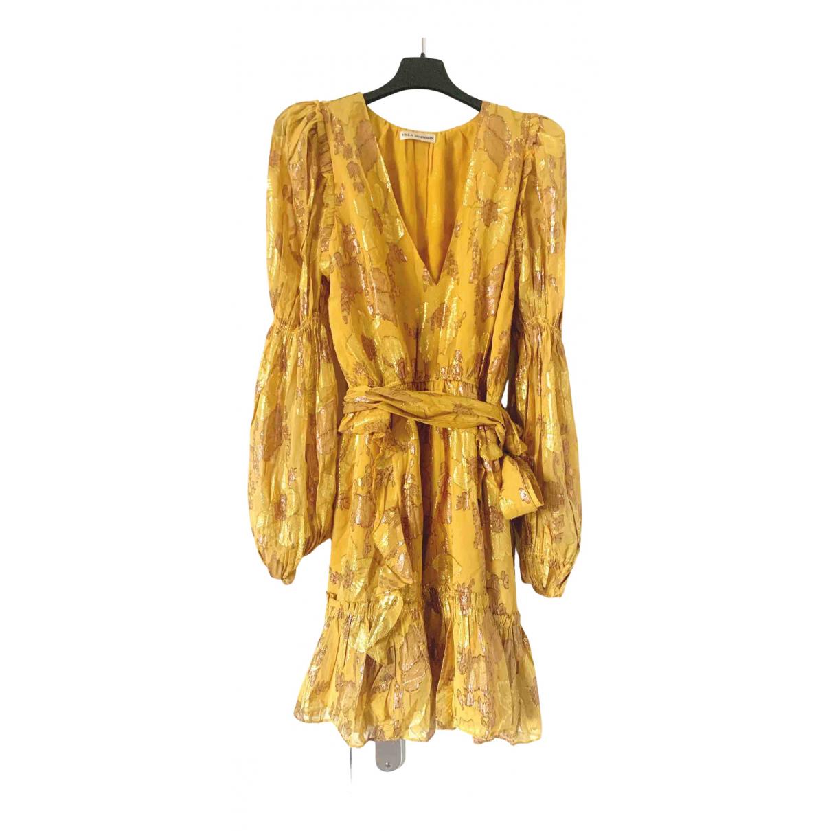 Ulla Johnson \N Kleid in  Gelb Seide