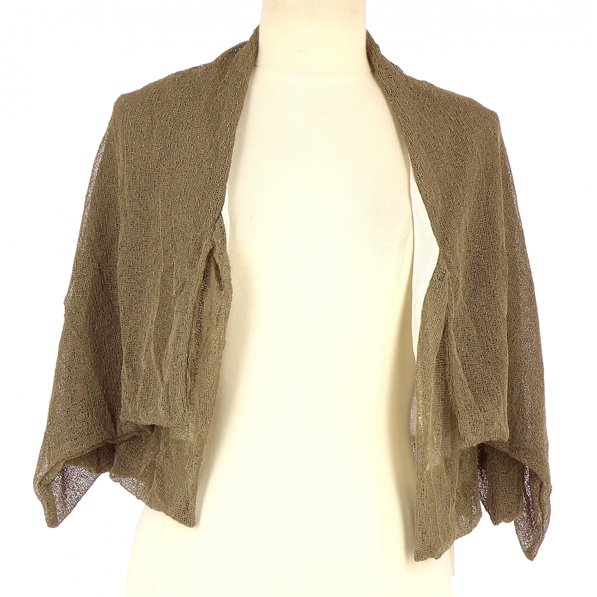 Non Signe / Unsigned \N Pullover in  Beige Polyester