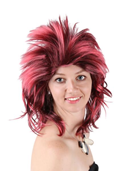 Milanoo Disfraz Halloween Pelucas de carnaval Accesorios de disfraces de peluca de cosplay sintetico para adultos de Halloween