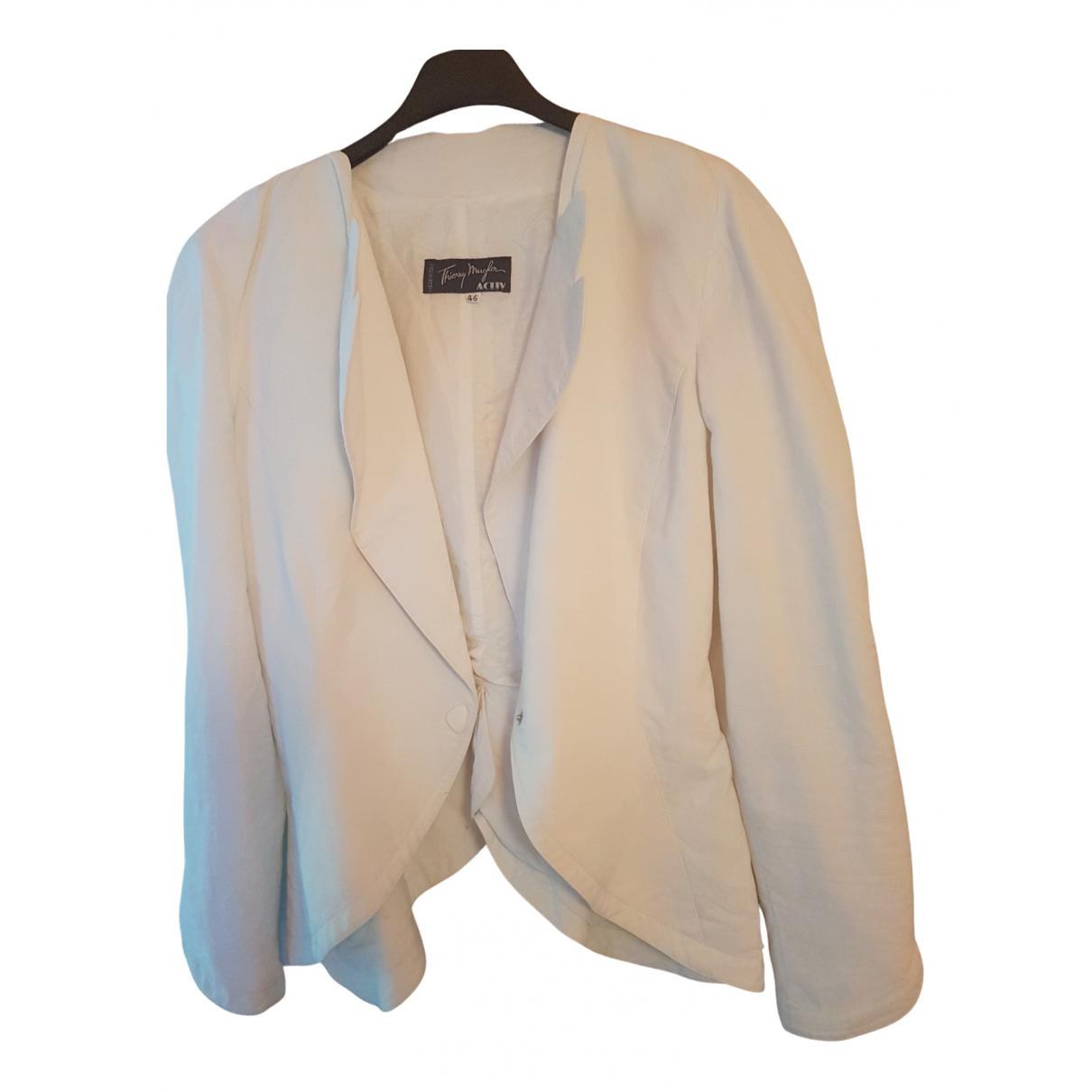 Thierry Mugler - Veste   pour femme en coton - blanc