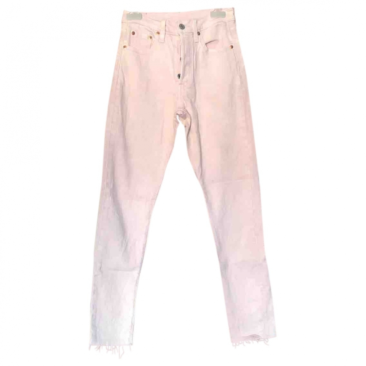 Levi's \N Pink Cotton Jeans for Women 22 US