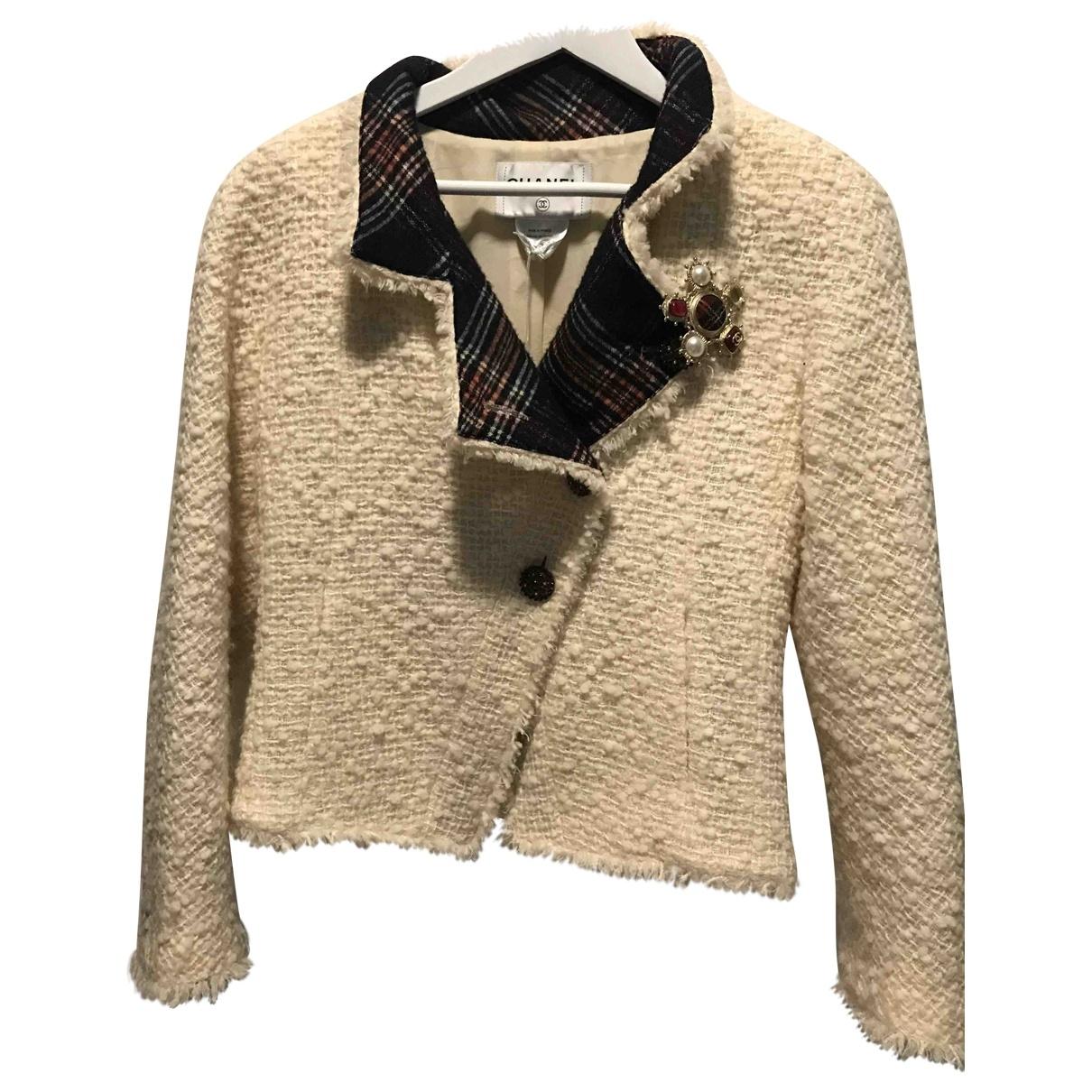 Chanel \N Ecru Wool jacket for Women 38 FR