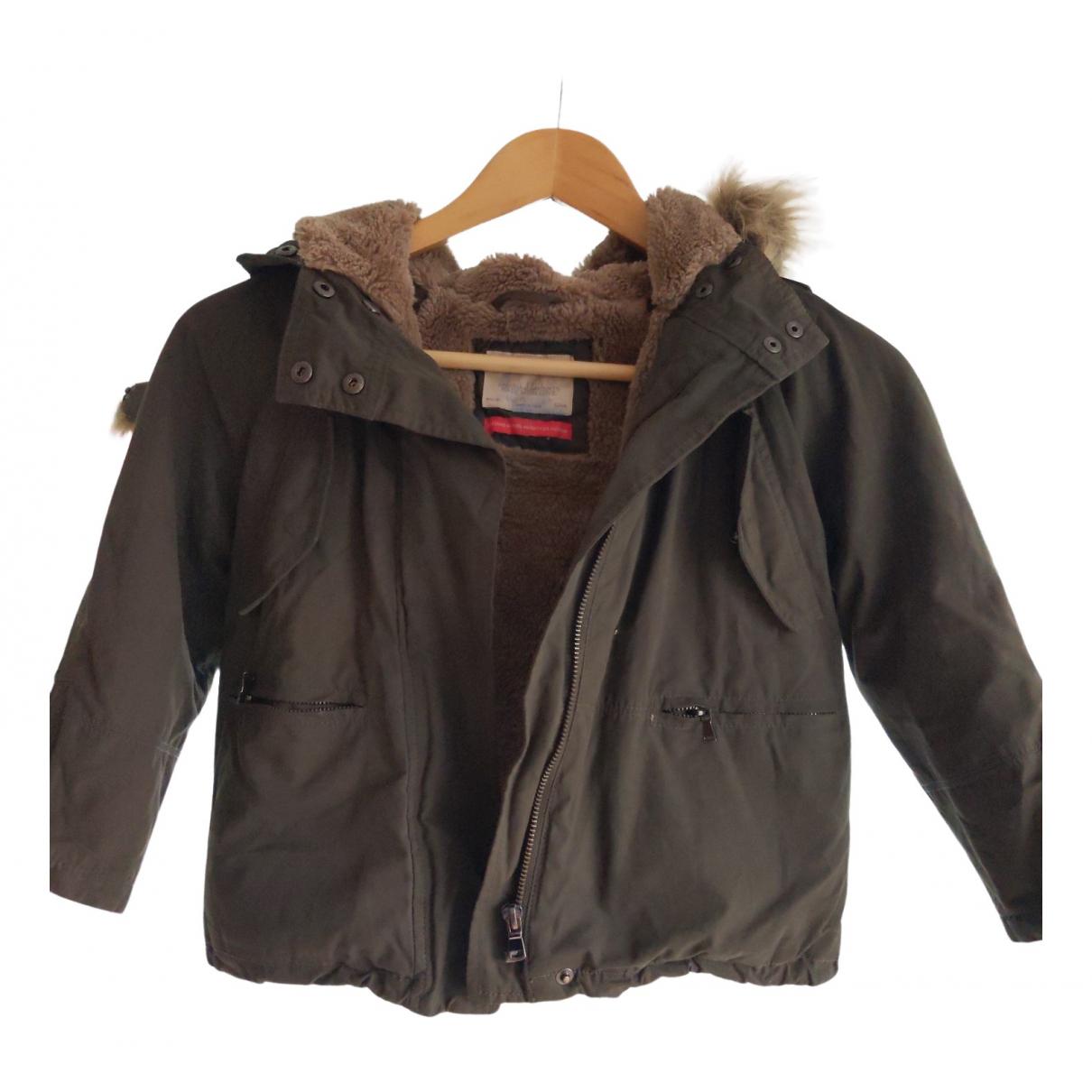 Zara - Blousons.Manteaux   pour enfant en coton - vert