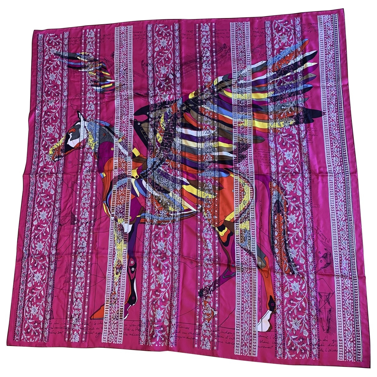Hermès \N Pink Silk scarf for Women \N