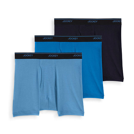 Jockey 3 Pack Boxer Briefs, Xx-large , Blue