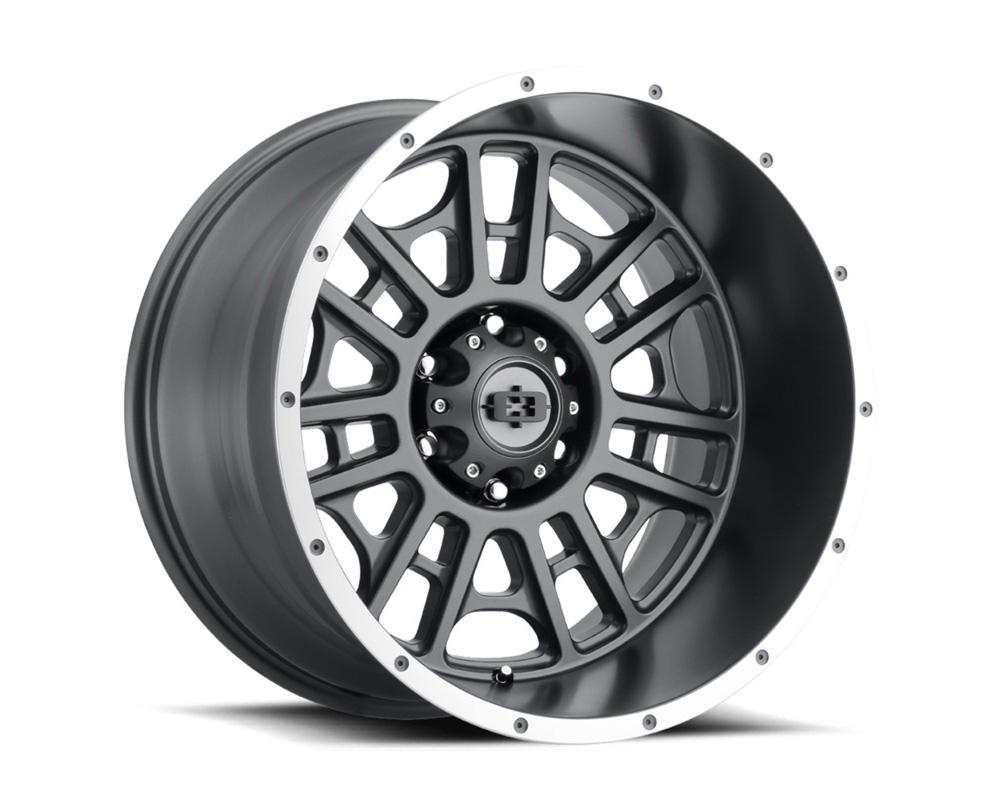 Vision Widow Satin Grey Machined Lip Wheel 20x9 8x180 12mm