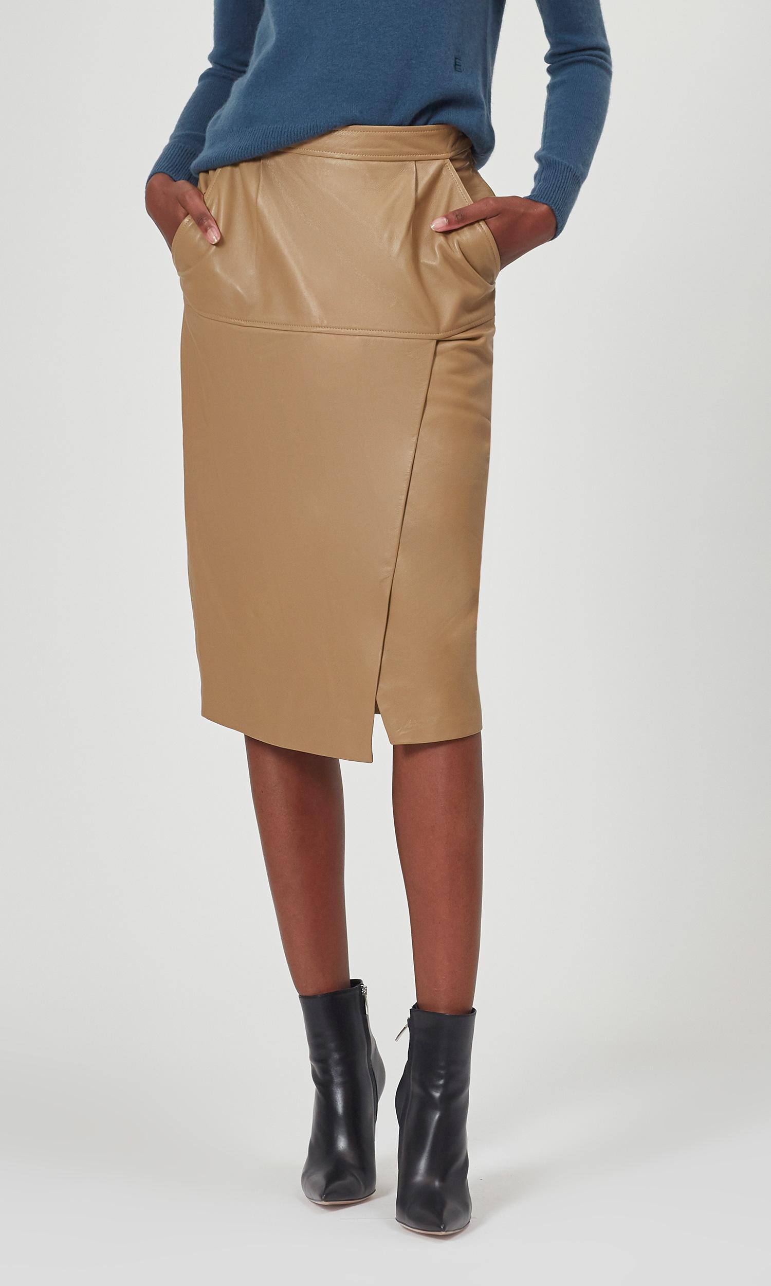 Khloelle Leather Skirt by Equipment