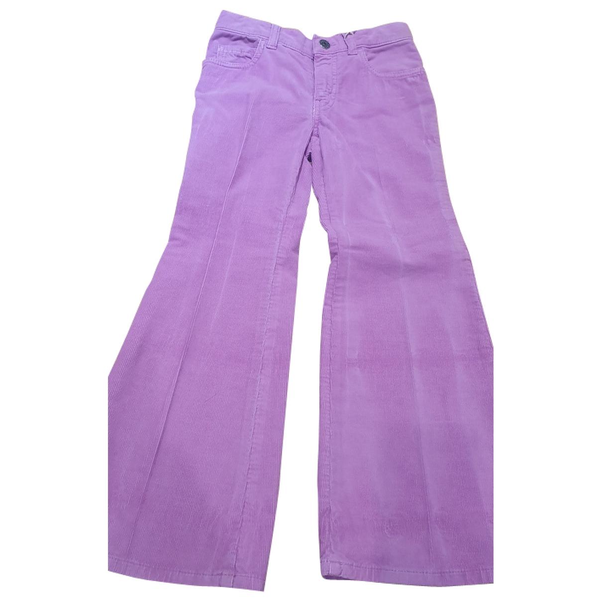 Pantalones en Algodon Multicolor Gucci