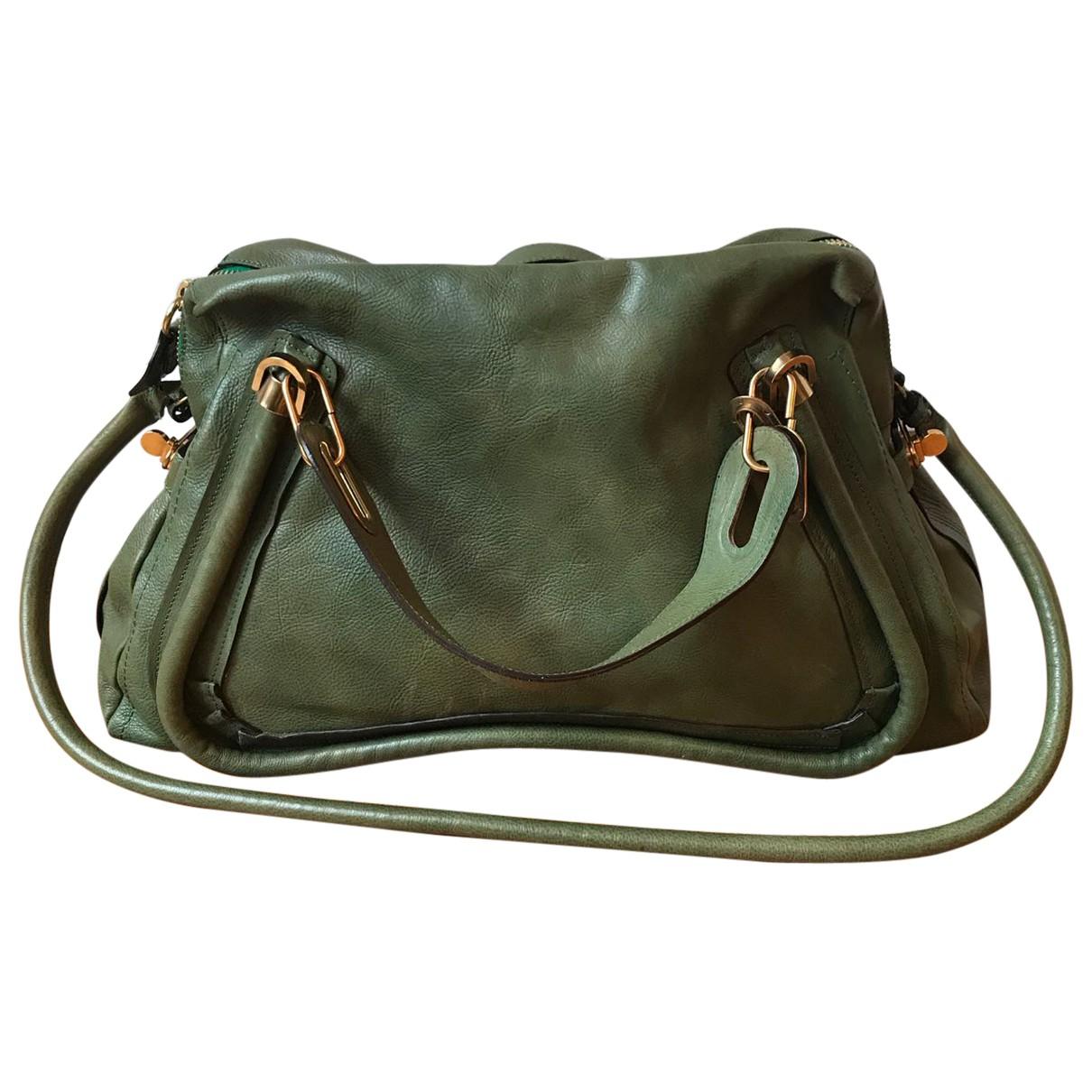 Chloe Paraty Handtasche in  Gruen Leder