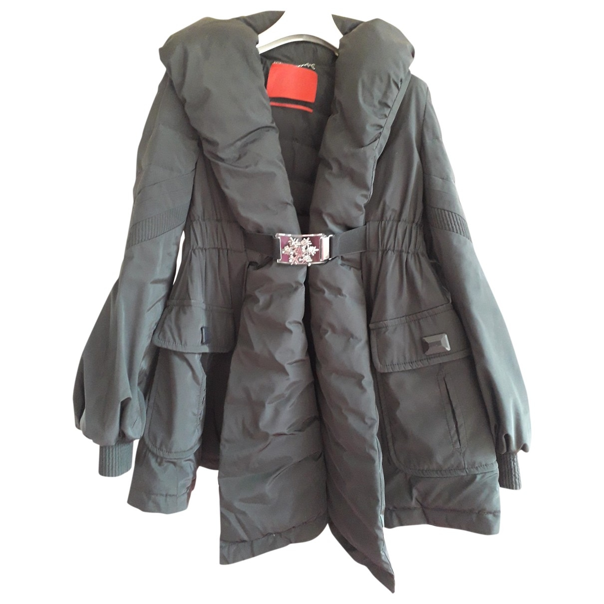 Moncler Gamme Rouge Black coat for Women 36 FR