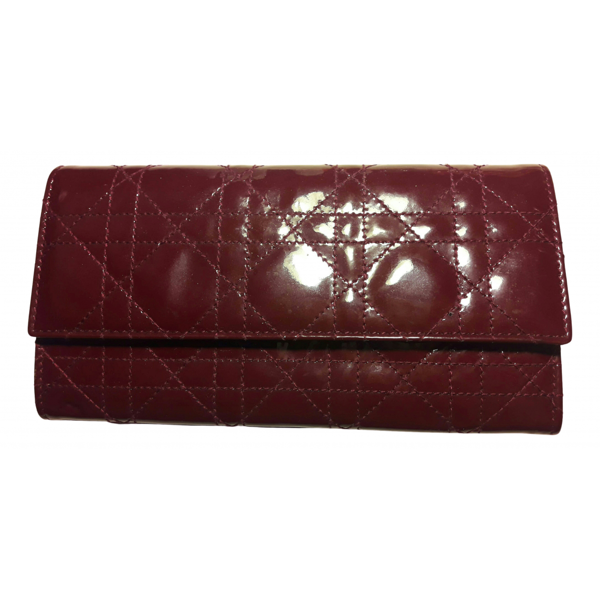 Dior N Burgundy Patent leather wallet for Women N