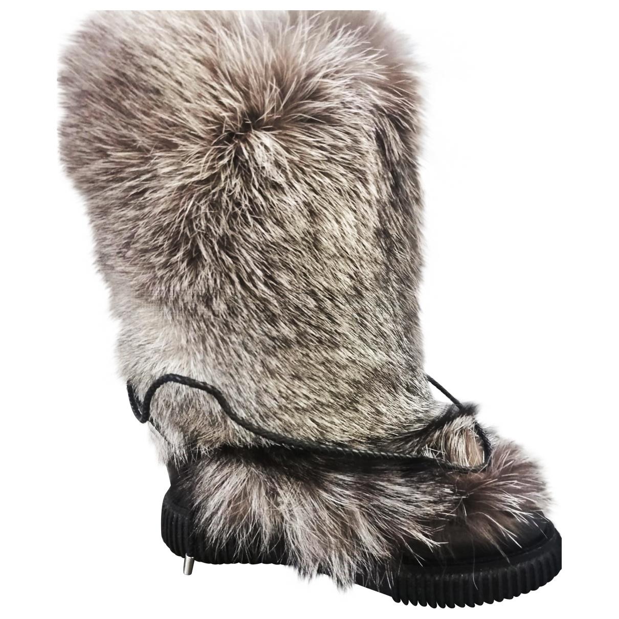 Moncler \N Black Fox Ankle boots for Women 38 EU