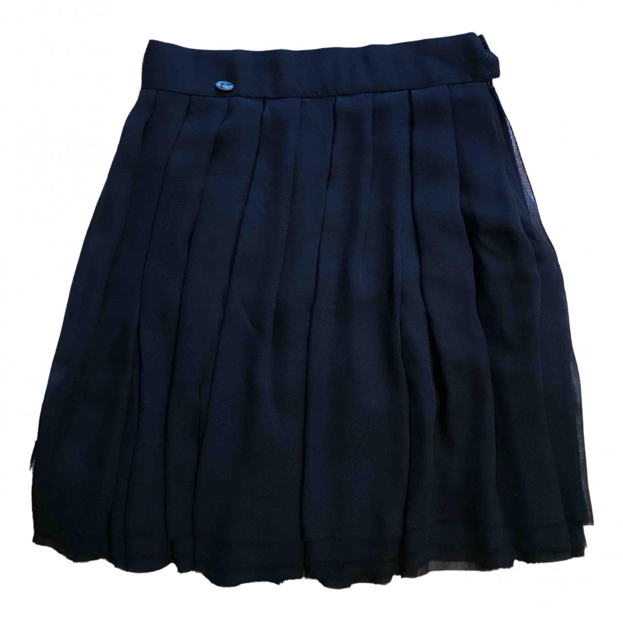 Chanel - Jupe   pour femme en soie - bleu