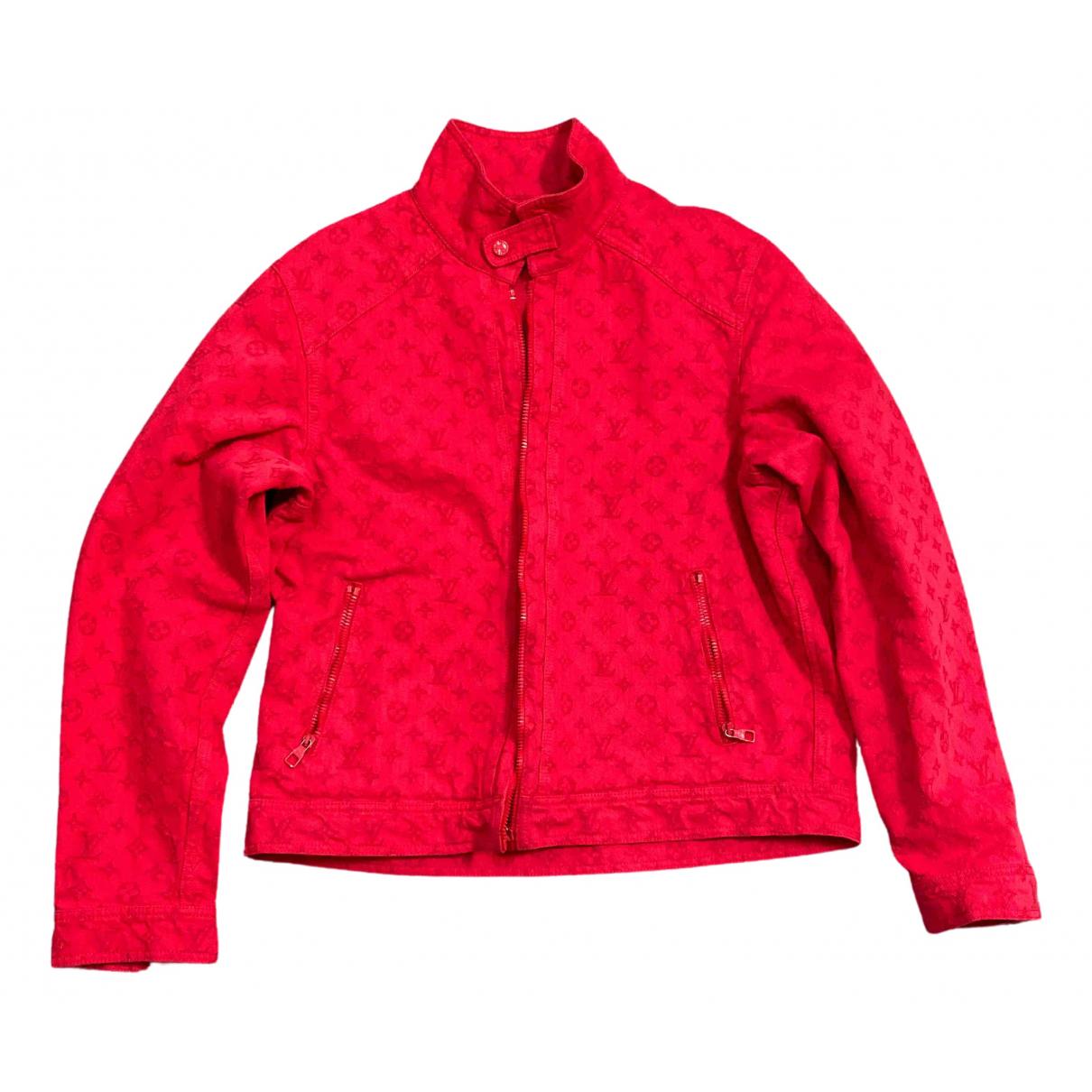 Louis Vuitton - Vestes.Blousons   pour homme en denim - rouge