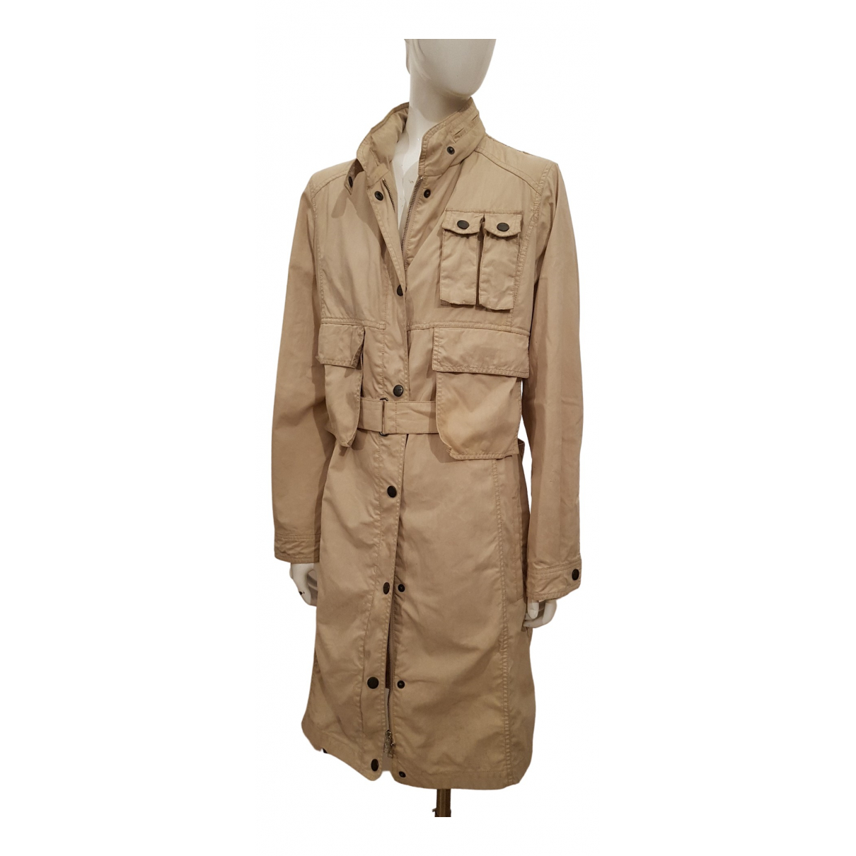 Max Mara Weekend \N Beige Cotton Trench coat for Women 44 IT