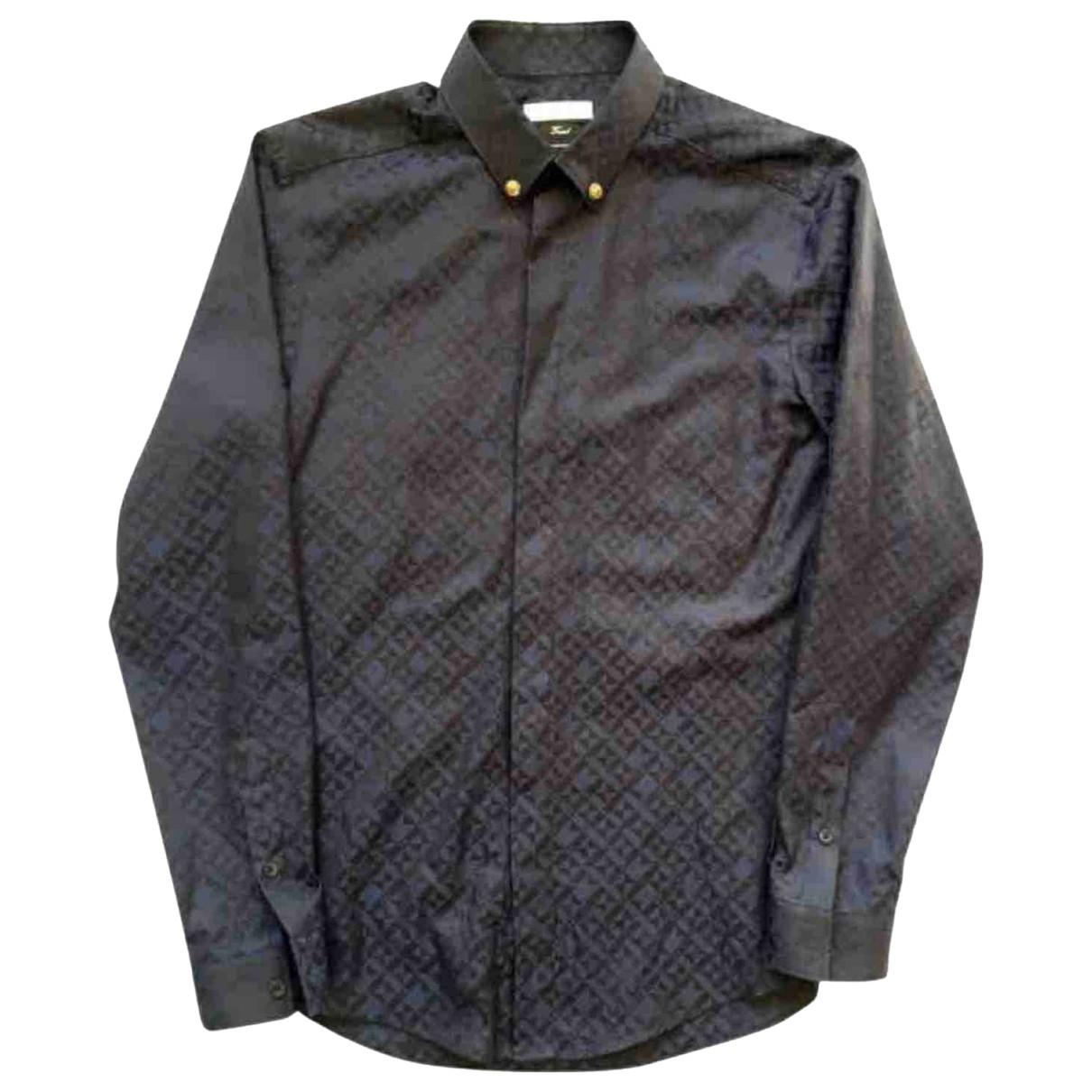 Versace - Chemises   pour homme en coton - marine