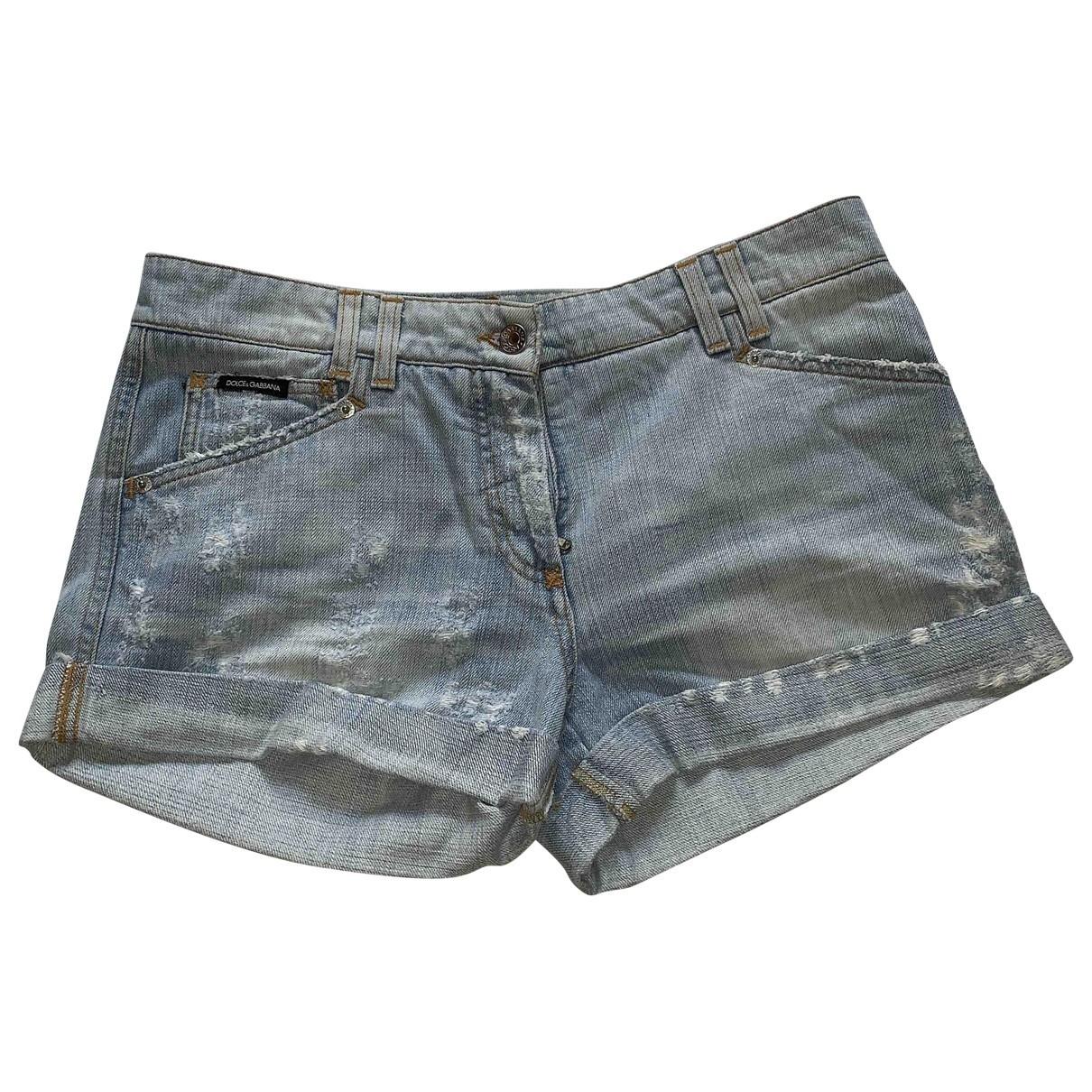Dolce & Gabbana \N Blue Denim - Jeans Shorts for Women 44 IT