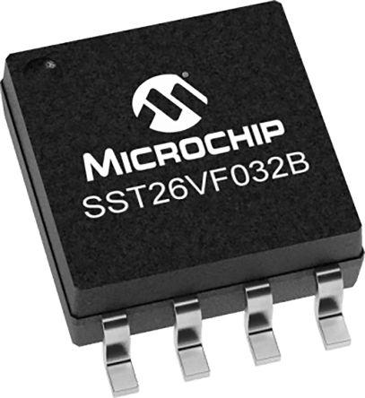 Microchip SST26VF032BT-104I/SM 32Mbit Flash Memory Chip, 8-Pin SOIJ (2100)