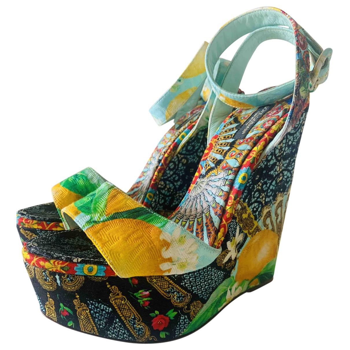 Dolce & Gabbana \N Multicolour Cloth Sandals for Women 39.5 EU
