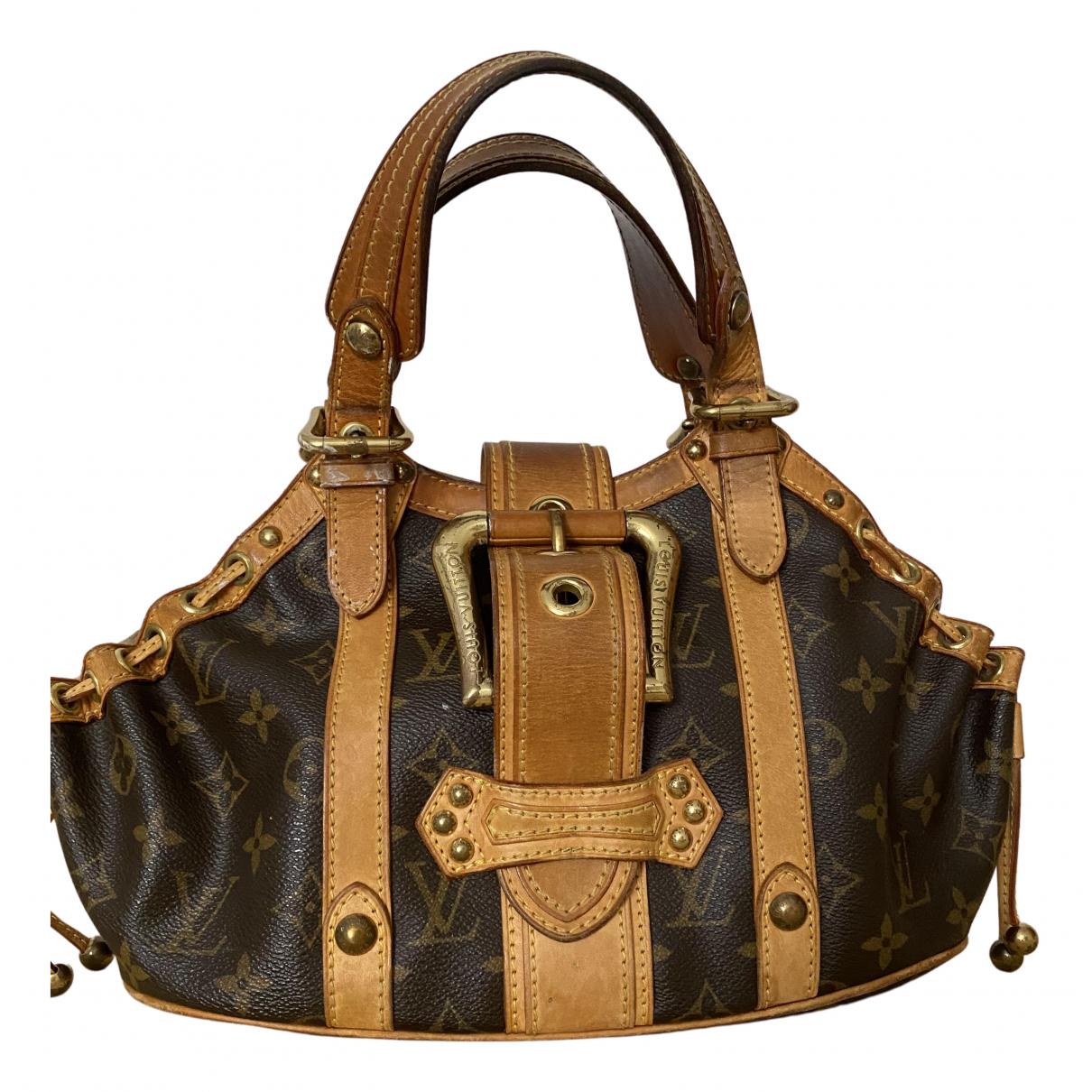 Louis Vuitton Theda Brown Cloth handbag for Women N