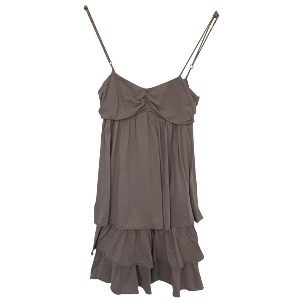 Velvet \N Kleid in  Beige Baumwolle