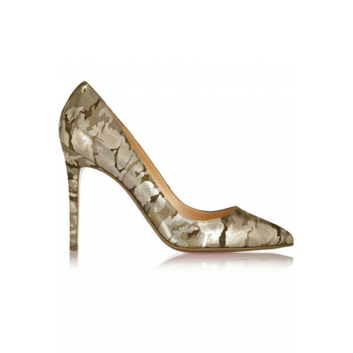 Christian Louboutin Pigalle Pumps in  Metallic Leder