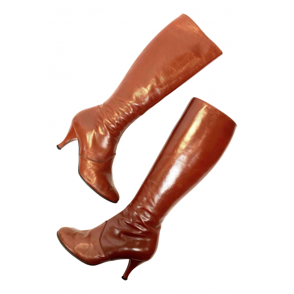 Marc Jacobs N Brown Leather Boots for Women 37 EU