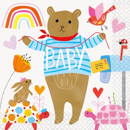 Serviettes de douche Zoo pour bébé, 16 ct
