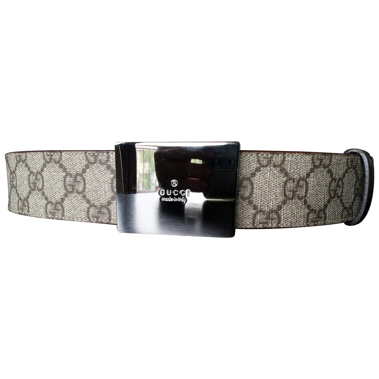 Gucci \N Brown Cloth belt for Women 95 cm