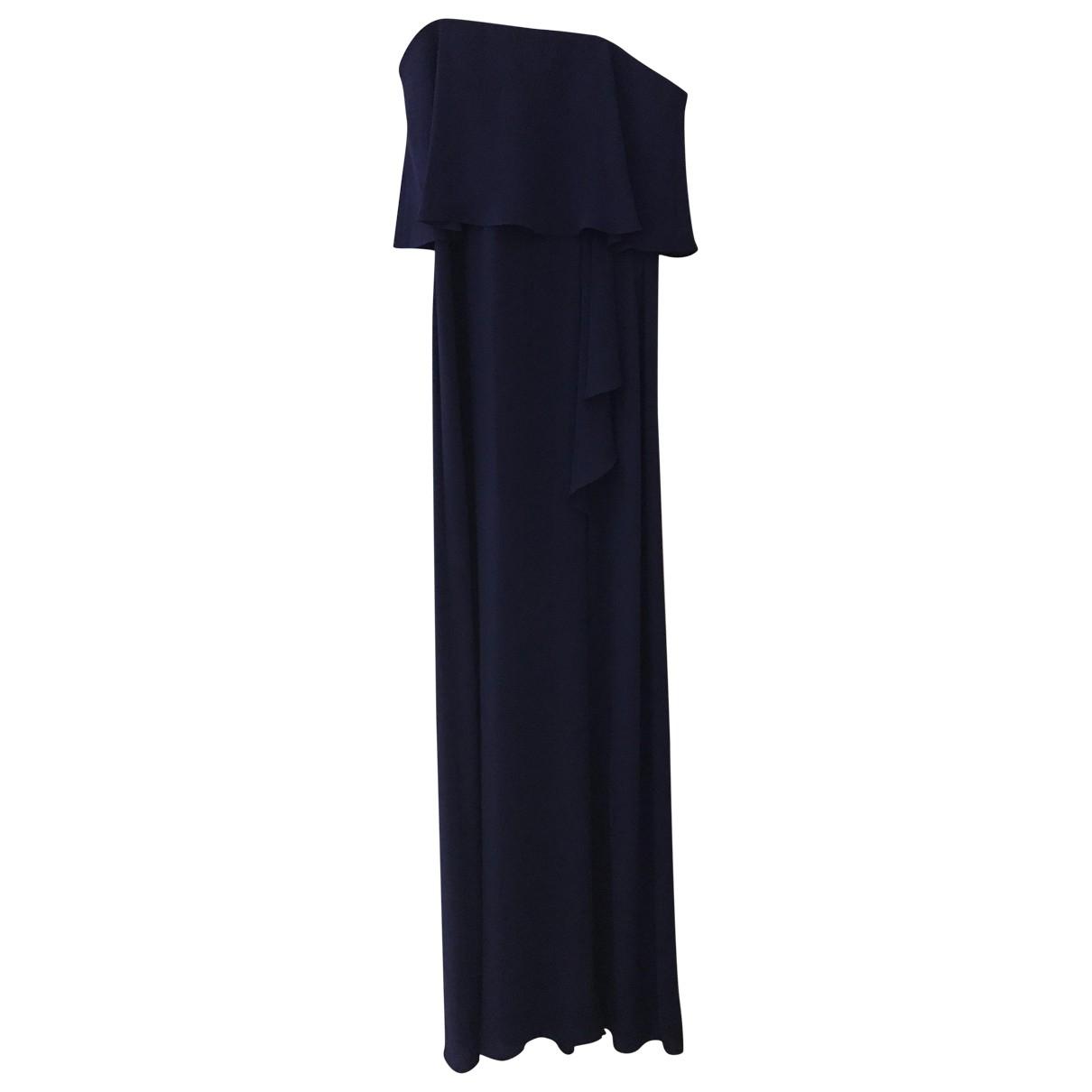 Bcbg Max Azria \N Kleid in  Blau Seide