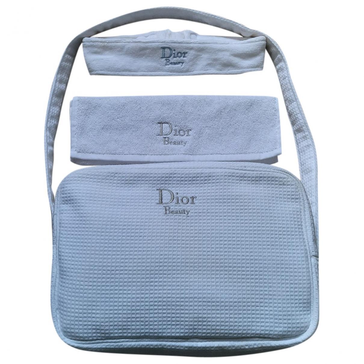 Dior - Sac de voyage   pour femme en coton - blanc