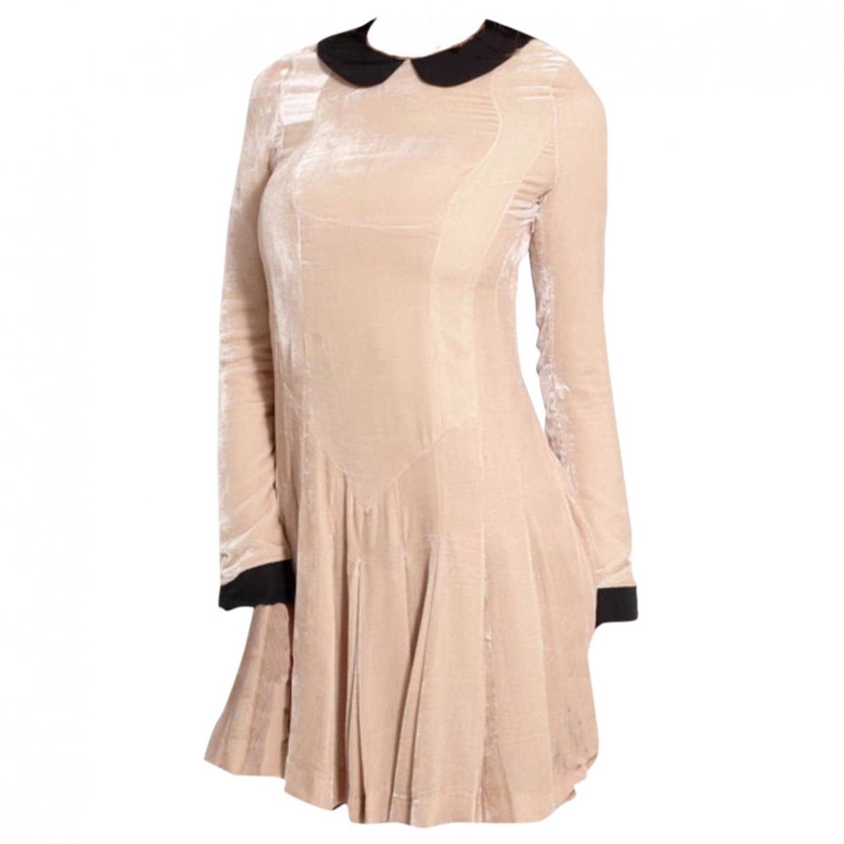 Meadham Kirchhoff \N Kleid in  Beige Seide