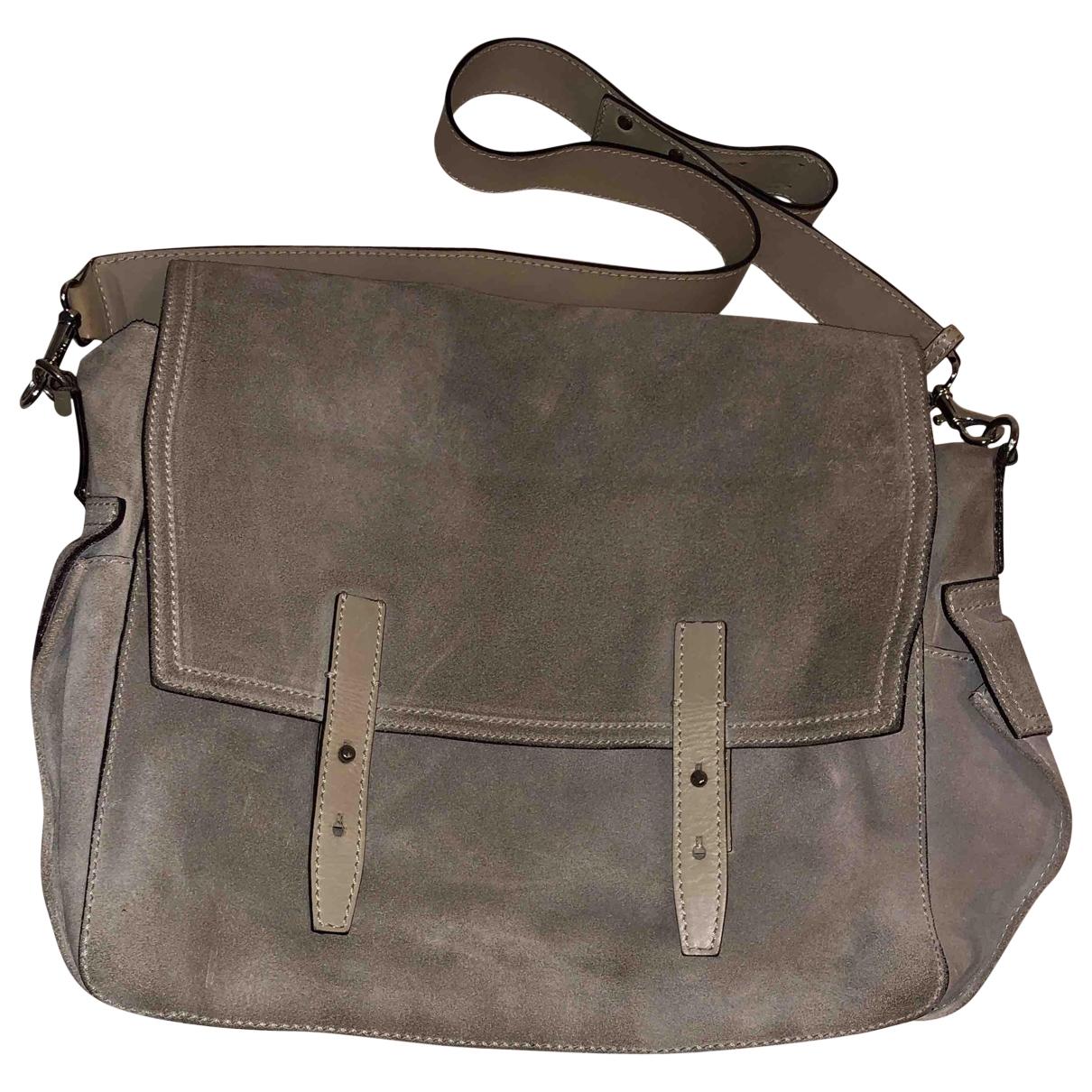 Max Mara \N Grey Suede handbag for Women \N